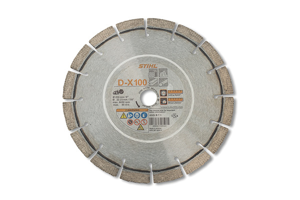 Stihl D-X 100 Diamond Wheel for Hard Stone/Concrete - Premium Grade for sale at Western Implement